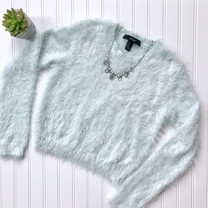 Forever 21 fuzzy crop sweater